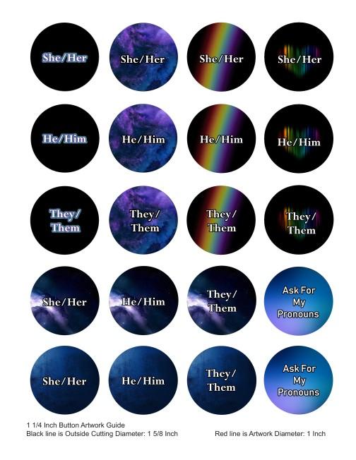 Pronoun Buttons Inclusive